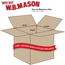 "W.B. Mason Co. Double Wall boxes with Hand Holes, 20"" x 20"" x 20"", Kraft, 10/BD Thumbnail 2"
