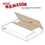 "W.B. Mason Co. Easy-Fold mailers, 11 1/8"" x 8 5/8"" x 2"" White, 50/BD Thumbnail 2"