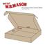 "W.B. Mason Co. Deluxe Literature mailer, 10"" x 8"" x 1 1/2"", Kraft, 50/BD Thumbnail 2"
