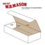 "W.B. Mason Co. Corrugated mailers, 6"" x 2 1/2"" x 1"", White, 50/BD Thumbnail 2"