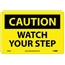 NMC™ Caution Sign, Watch Your Step, 7'' x 10'', Aluminum, Black on Yellow Thumbnail 1