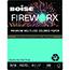 Boise® FIREWORX® Colored Paper, 20 lb., 8 1/2 x 11, Turbulent Turquoise, 500/RM Thumbnail 1