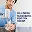 Brita® Water Faucet Filtration System with Filter Change Reminder, White Thumbnail 3