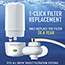 Brita® Water Faucet Filtration System with Filter Change Reminder, White Thumbnail 5