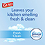 Glad® ForceFlex Tall Kitchen Drawstring Trash Bags, 13 Gallon Trash Bag, Fresh Clean Scent with Febreze Freshness, 40 Count, 6/CT Thumbnail 2