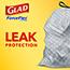 Glad® ForceFlex Tall Kitchen Drawstring Trash Bags, 13 Gallon Trash Bag, Fresh Clean Scent with Febreze Freshness, 40 Count, 6/CT Thumbnail 3