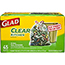 Glad® Tall Kitchen Drawstring Recycling Bags, 13 Gallon, Clear, 45 Count Thumbnail 1