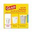 Glad® Small Trash Bags, OdorShield® 4 Gallon White Trash Bag, Febreze Fresh Clean, 26 Count, 6/CT Thumbnail 2