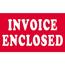 """Tape Logic® Labels, Invoice EncloseD, 3"""" x 5"""", Red/White, 500/RL Thumbnail 1"""
