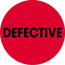 """Tape Logic® Labels, Defective"""", 2"""" Circle, Fluorescent Red, 500/RL Thumbnail 1"""