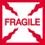 "Tape Logic® Labels, Fragile"", 2"" x 2"", Red/White, 500/RL Thumbnail 1"