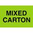 "Tape Logic® Labels, Mixed Carton"", 2"" x 3"", Fluorescent Green, 500/RL Thumbnail 1"