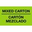 """Tape Logic® Bilingual Labels, Mixed Carton - Carton Mezclado"""", 3"""" x 5"""", Fluorescent Green, 500/RL Thumbnail 1"""