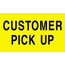 "Tape Logic® Labels, Customer Pick Up"", 3"" x 5"", Fluorescent Yellow, 500/RL Thumbnail 1"