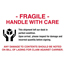 """Tape Logic® Labels, Fragile - Handle With Care"""", 4"""" x 6"""", Red/White/Black, 500/RL Thumbnail 1"""