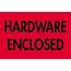 "Tape Logic® Labels, Hardware EncloseD, 2"" x 3"", Fluorescent Red, 500/RL Thumbnail 1"