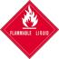 "Tape Logic® Labels, Flammable LiquiD, 4"" x 4, Red/White, 500/RL Thumbnail 1"
