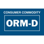 "Tape Logic® Labels, Consumer Commodity ORM-D, 1 3/8"" x 2 1/4"", Blue/White, 500/RL Thumbnail 1"