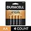 Duracell® Coppertop® AA Alkaline Batteries, 4/PK Thumbnail 1