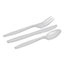 Dixie® Combo Pack, Tray/White Plastic Utensils, 56 Forks, 56 Knives, 56 Spoons, 6 Packs Thumbnail 2