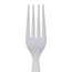 Dixie® Plastic Cutlery, Heavyweight Forks, White, 100/BX Thumbnail 2