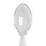 """Dixie® Plastic Cutlery, Heavyweight Teaspoon, Crystal Clear, 6"""", 1000/CT Thumbnail 2"""