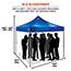 ergodyne® Shax® 6000 Heavy-Duty Commercial Pop-Up Tent, 10' X 10', Blue Thumbnail 2