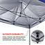 ergodyne® Shax® 6000 Heavy-Duty Commercial Pop-Up Tent, 10' X 10', Blue Thumbnail 3