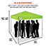 ergodyne® Shax® 6010 Lightweight Tent,  10' X 10', Hi-Vis Lime Thumbnail 2