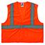 ergodyne® Glowear® 8205Hl Type R Class 2 Super Econo Mesh Vest, Large/X-Large, Hi-Vis Orange Thumbnail 1