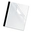 """Fellowes® Thermal Binding System Covers, 1/16"""" Cap, 11 x 8 1/2, Clear/Black, 10/Pack Thumbnail 2"""