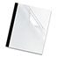 """Fellowes® Thermal Binding System Covers, 3/8"""" Cap, 11 x 8 1/2, Clear/Black, 10/Pack Thumbnail 2"""