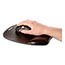 Fellowes® Gel Crystals Wrist Support, Mouse Pad/Wrist Rest, Black Thumbnail 3