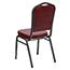 Flash Furniture HERCULES Series Crown Back Stacking Banquet Chair, Vinyl, Burgundy/Silver Vein Thumbnail 6
