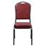 Flash Furniture HERCULES Series Crown Back Stacking Banquet Chair, Vinyl, Burgundy/Silver Vein Thumbnail 5