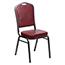 Flash Furniture HERCULES Series Crown Back Stacking Banquet Chair, Vinyl, Burgundy/Silver Vein Thumbnail 1