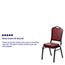 Flash Furniture HERCULES Series Crown Back Stacking Banquet Chair, Vinyl, Burgundy/Silver Vein Thumbnail 3