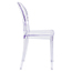 Flash Furniture Ghost Side Chair in Transparent Crystal Thumbnail 6