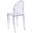 Flash Furniture Ghost Side Chair in Transparent Crystal Thumbnail 5