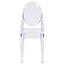 Flash Furniture Ghost Side Chair in Transparent Crystal Thumbnail 4
