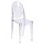Flash Furniture Ghost Side Chair in Transparent Crystal Thumbnail 1