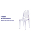Flash Furniture Ghost Side Chair in Transparent Crystal Thumbnail 2