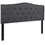 Flash Furniture Cambridge Tufted Upholstered Queen Size Headboard in Dark Gray Fabric Thumbnail 6
