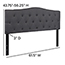 Flash Furniture Cambridge Tufted Upholstered Queen Size Headboard in Dark Gray Fabric Thumbnail 5