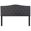 Flash Furniture Cambridge Tufted Upholstered Queen Size Headboard in Dark Gray Fabric Thumbnail 1