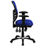 Flash Furniture Mid-Back Blue Mesh Multifunction Executive Swivel Ergonomic Office Chair with Adjustable Arms Thumbnail 7