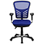 Flash Furniture Mid-Back Blue Mesh Multifunction Executive Swivel Ergonomic Office Chair with Adjustable Arms Thumbnail 5
