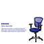 Flash Furniture Mid-Back Blue Mesh Multifunction Executive Swivel Ergonomic Office Chair with Adjustable Arms Thumbnail 3