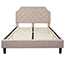 Flash Furniture Brighton Queen Size Tufted Upholstered Platform Bed in Beige Fabric Thumbnail 6