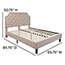 Flash Furniture Brighton Queen Size Tufted Upholstered Platform Bed in Beige Fabric Thumbnail 5